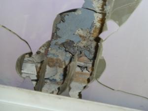 dégâts toiture véranda AR de la maison