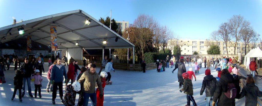 La patinoire d'AulnaysousBois ouverte du 12 décembre  ~ Vieux Pays Aulnay Sous Bois