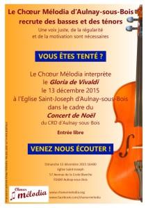 affiche concert noel melodia
