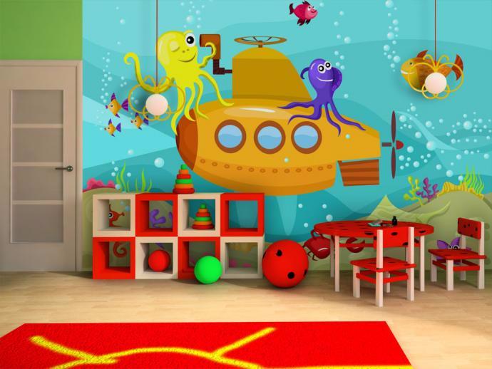 Quelques id es de d coration avec du papier peint enfant for Papier peint chambre d enfant