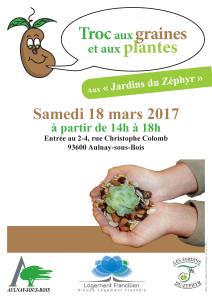 troc de graines et de plantes le samedi 18 mars aux jardins du zphyr aulnay sous bois - Salle De Mariage Aulnay Sous Bois La Rose Des Vents