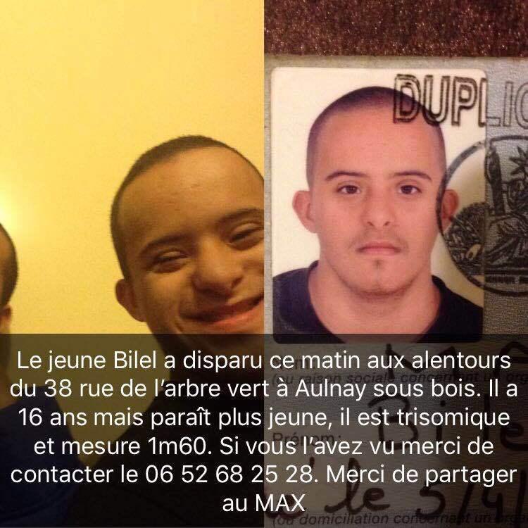 Avis de recherche suiteà la disparition de Bilelà Aulnay sous Bois Aulnaycap # Mission Locale Aulnay Sous Bois